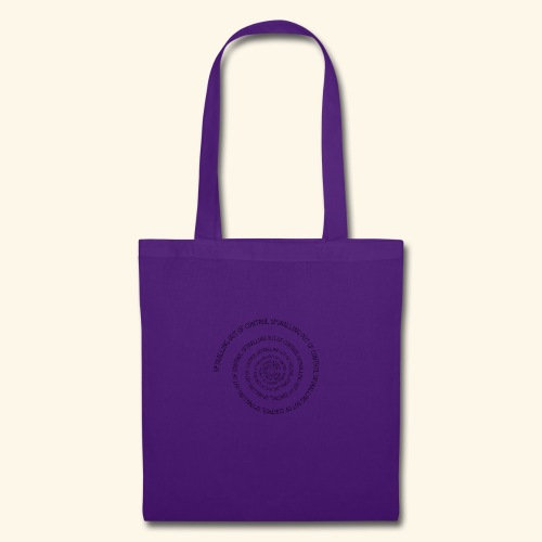 SPIRAL TEXT LOGO BLACK IMPRINT - Tote Bag