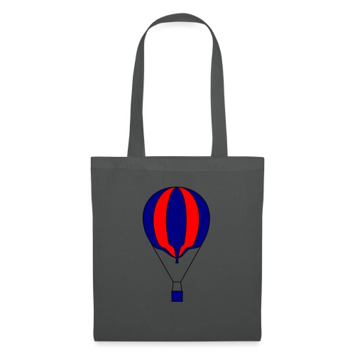 Gasballon blau rot gestreift unprall - Stoffbeutel