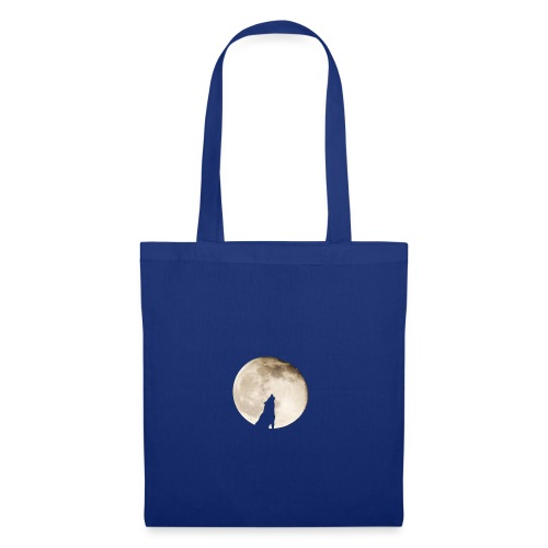 The wolf with the moon - Sac en tissu