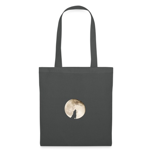 The wolf with the moon - Tote Bag