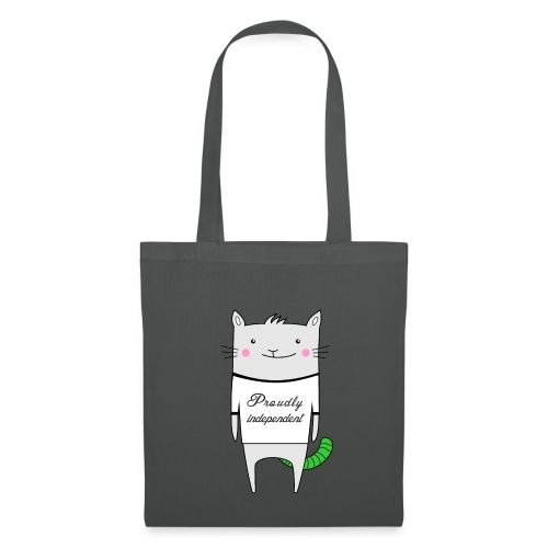 Cat Proudly Independent - Tote Bag