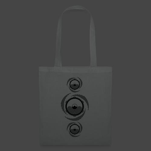 Haut-parleur Noir Spirale - Tote Bag