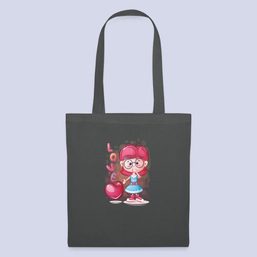 Funny and lovely girl cartoon design - Tote Bag