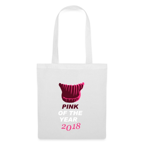 pink of the year 2018 pussyhat - Stoffbeutel