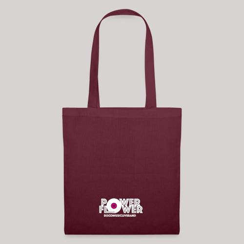 Logo PowerFlower bianco e fuxia - Borsa di stoffa