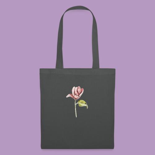 Rosa rosa garabatos - Bolsa de tela