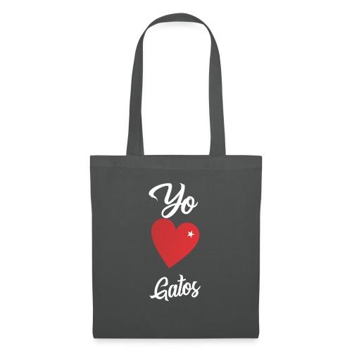 Diseño Yo Amo Gatos - Bolsa de tela
