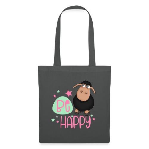 Black sheep - be happy sheep Happy sheep - Tote Bag