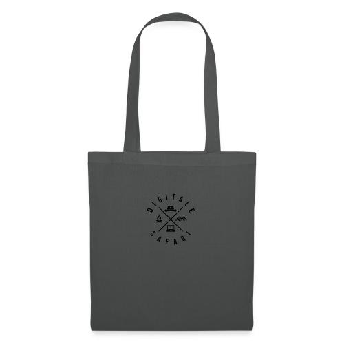 digitale safari Logo schwarz - Stoffbeutel