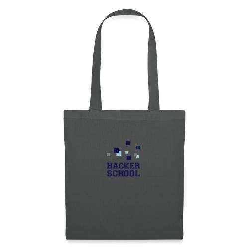 Hacker School Logo mit Pixeln - Stoffbeutel