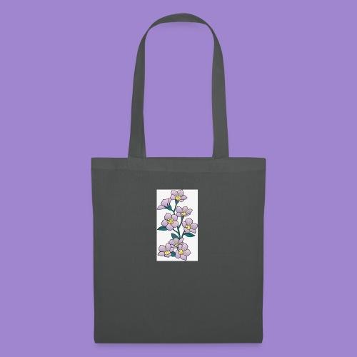 Violettes - Sac en tissu