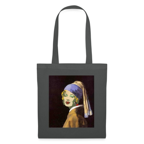 Art Juxtaposition - Pearl Earring & Marilyn Monroe - Tote Bag