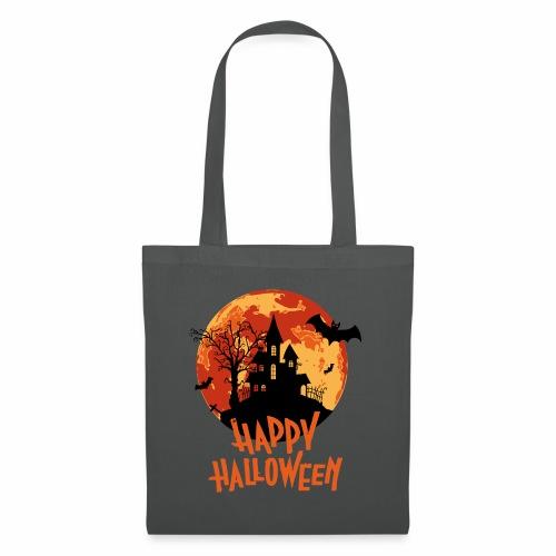 Bloodmoon Haunted House Halloween Design - Stoffbeutel