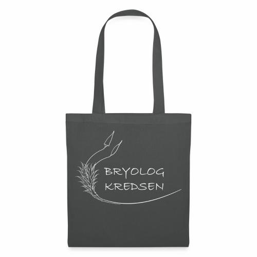 Bryologkredsen - hvidt logo - Mulepose