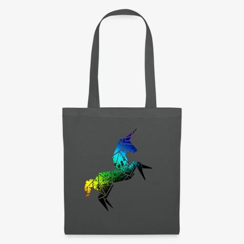 Licorne geométrique muticolore - Tote Bag