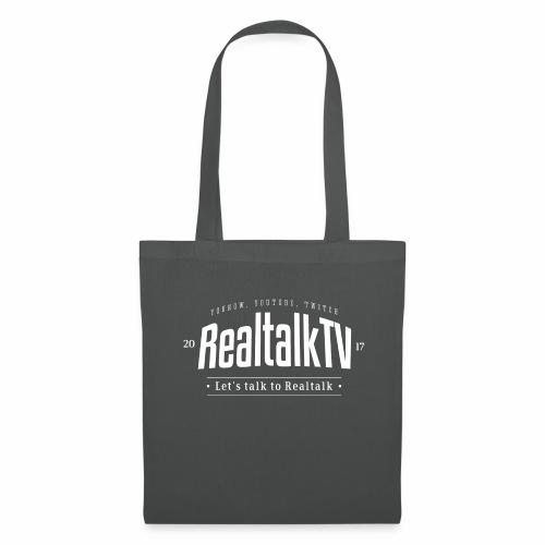 realtalk logo weiss - Stoffbeutel