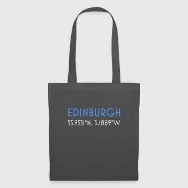 Edinburgh Schottland minimalistische Koordinaten - Stoffbeutel