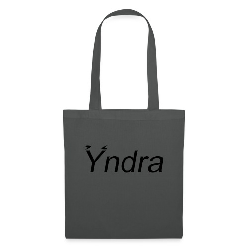 Yndra-Logo´3´-Schwarz - Stoffbeutel