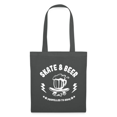 skateboard et bière - Tote Bag