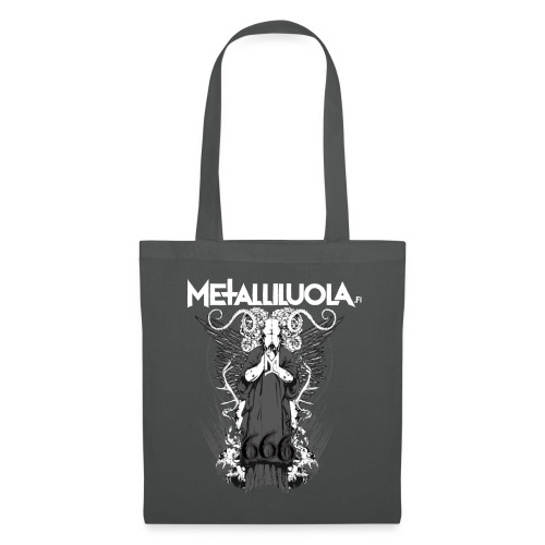 Metalliluola logo ja Demoniac 666 - Kangaskassi