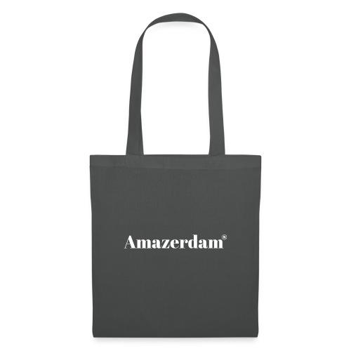 Amazerdam weiße Schrift - Stoffbeutel
