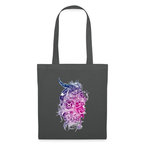 Taurus Skull Zodiac Sign - Tote Bag