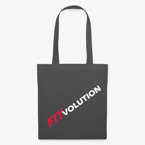 Großes, weißes Fitvolution-Logo - Stoffbeutel