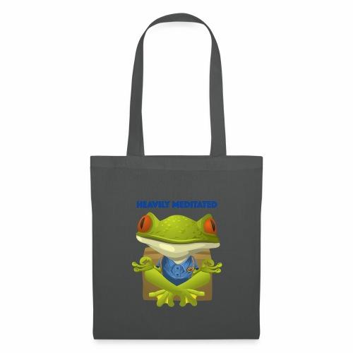 Heavily meditated - frog - Stoffbeutel