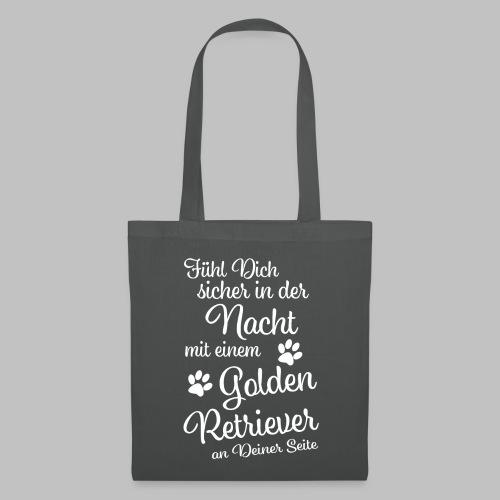 Fühl Dich sicher in der Nacht - Golden Retriever - Stoffbeutel