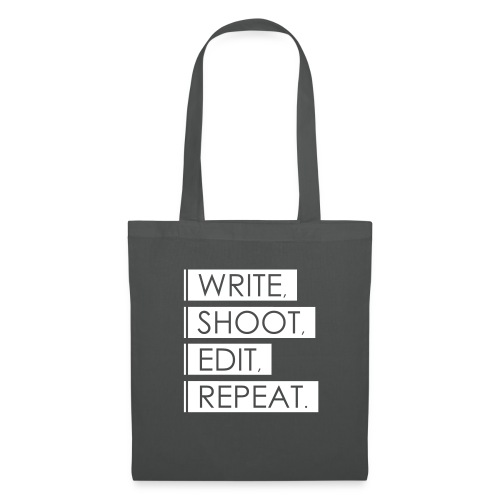 Write, Shoot, Edit, Repeat - Stoffbeutel