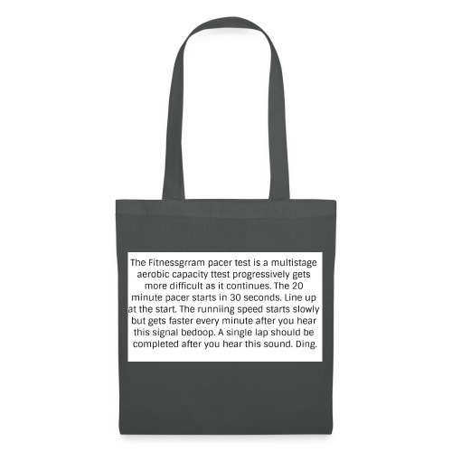 FitnessGram pacer Test - Tote Bag