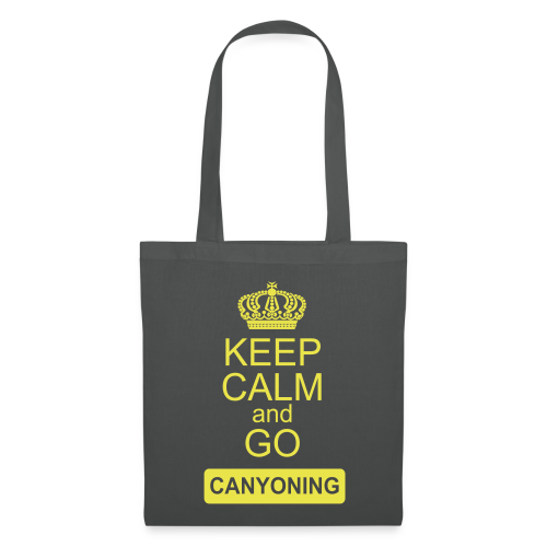 keep calm and go canyoning 2 - Stoffbeutel