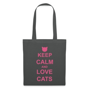 Keep Calm and Love Cats - Pink - Tote Bag
