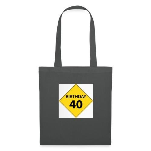 motive shield birthday 40 40 - Tygväska