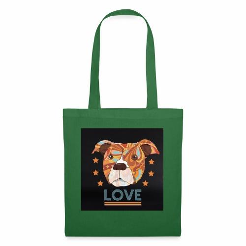 PIT BULL TERRIER HEAD LOVE DOG T-SHIRT DESIGN - Tote Bag