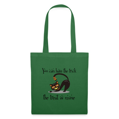 Grinning Cat Lover Halloween Trick or Treat Black - Tote Bag