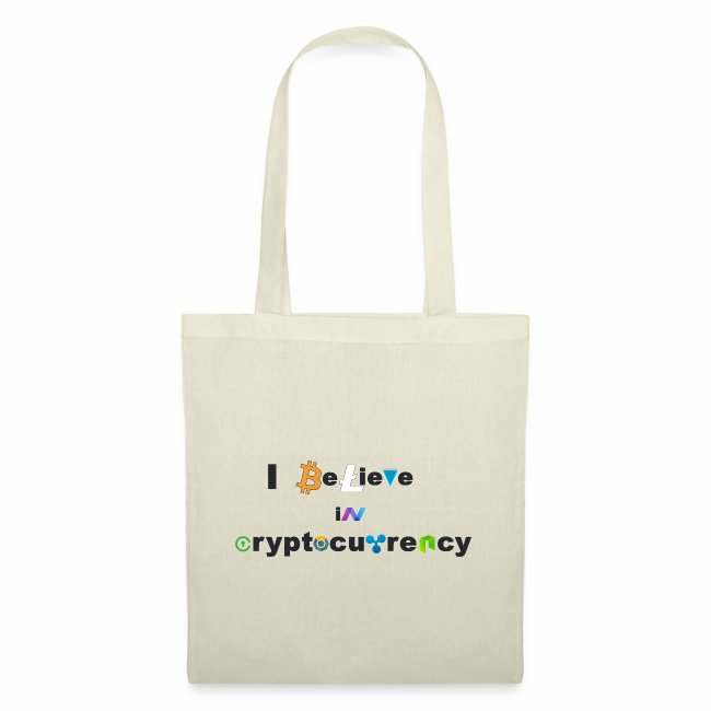 I believe in Cryptocurrency Stofftasche Kyptowähr