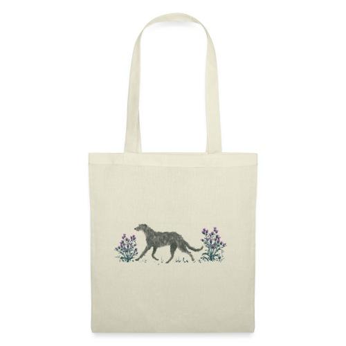 Deerhound und Disteln - Stoffbeutel
