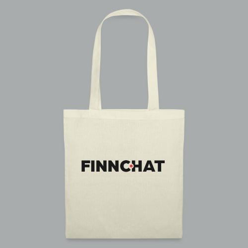 Finnchat-logon fontti harmaa oranssi - Kangaskassi