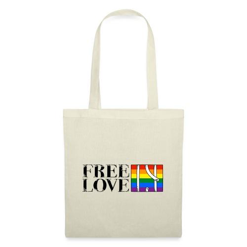 Free Love Rainbow Flag Freie Liebe - Stoffbeutel