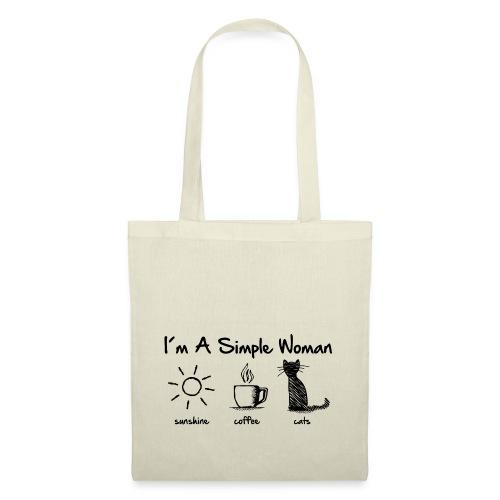 Vorschau: simple woman cats - Stoffbeutel