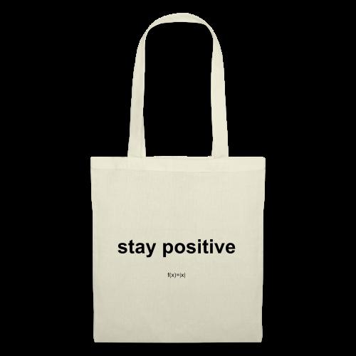 f(x)= x  - Stay positiv - Stoffbeutel