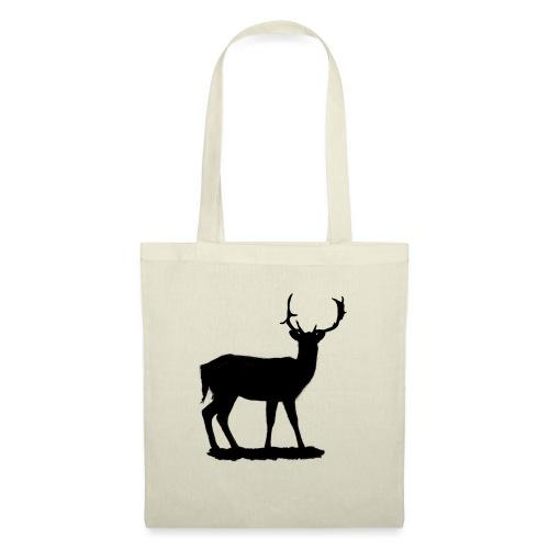 Silueta ciervo en negro - Bolsa de tela