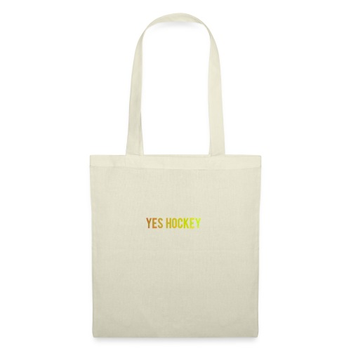Yes Hockey Logo- Orange - Tote Bag
