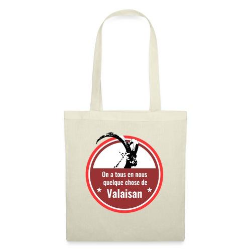 On a tous en nous qqch de Valaisan - Steinbock - Stoffbeutel