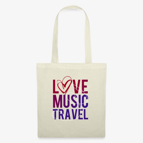 Love Music Travel - Stoffbeutel