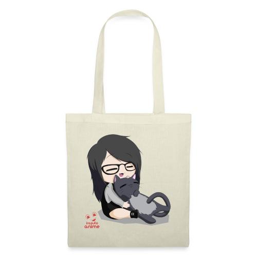 Anime chibi chica y neko - Bolsa de tela