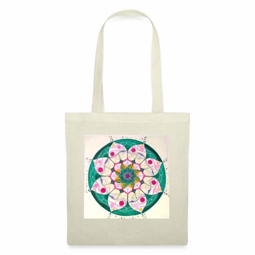 mandala rosa - Bolsa de tela