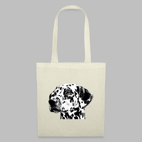 Dalmatiner Kopf Hund - Stoffbeutel