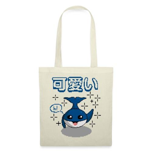 pixel ballena kawaii - bluecontest - Bolsa de tela